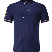 Custom zomer korte mouwen double-breasted chef <span class=keywords><strong>uniform</strong></span> unisex hotel chef <span class=keywords><strong>uniform</strong></span>