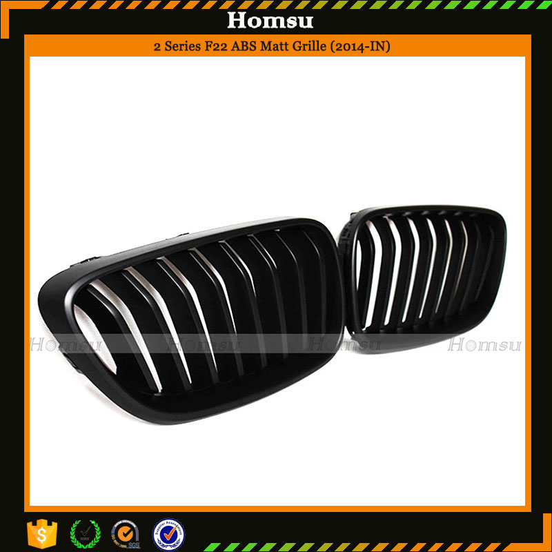 ABS material glossy mat black kidney replacement grill for 2 series F22 2014-2015 228i 235i