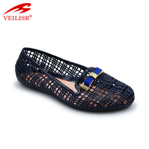 Beautiful water sandals fancy ladies jelly clogs shoes