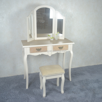 Antique Mdf Mirror Dressers With Chair Bedroom Furniture Art Deco