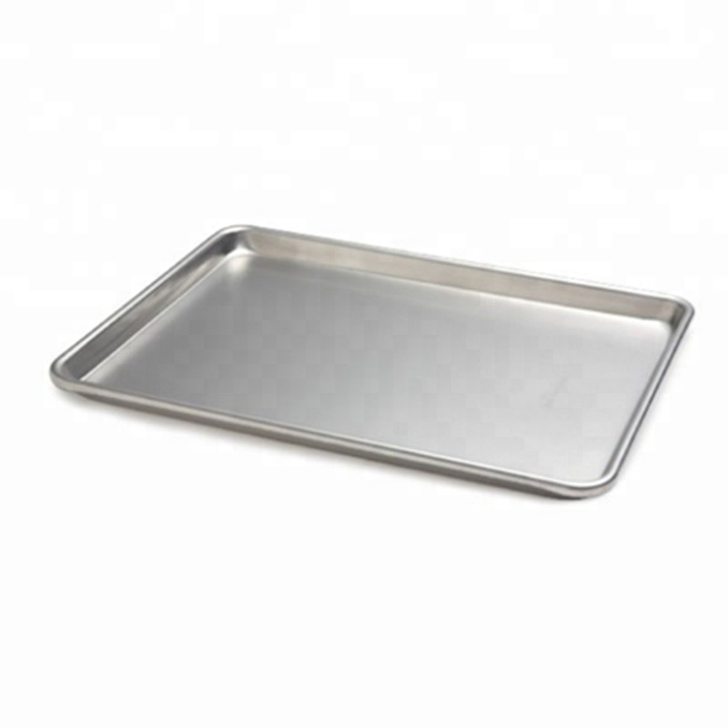 Kitchen hamburger bakeware pan rectangle design perforated aluminium alloy baguette baking tray