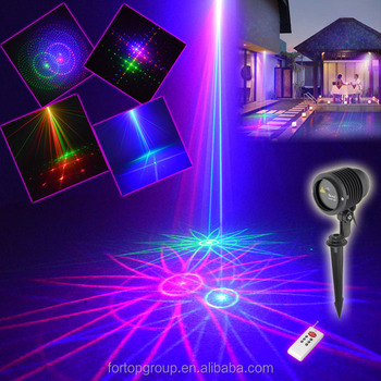 Outdoor Lighting 9 In 1 RGB Lighting Projector Outside Landscape Garden  Home Xmas Palm Tree
