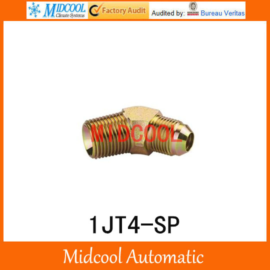 1JT4-SP 45 degree elbow jic male 74 degree cone to bspt male adapter