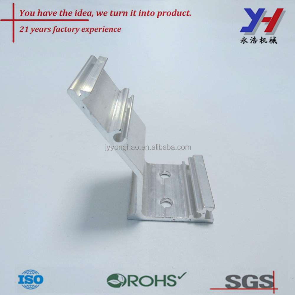 Easy to install Anodized solar mounting bracket, LED aluminum profile