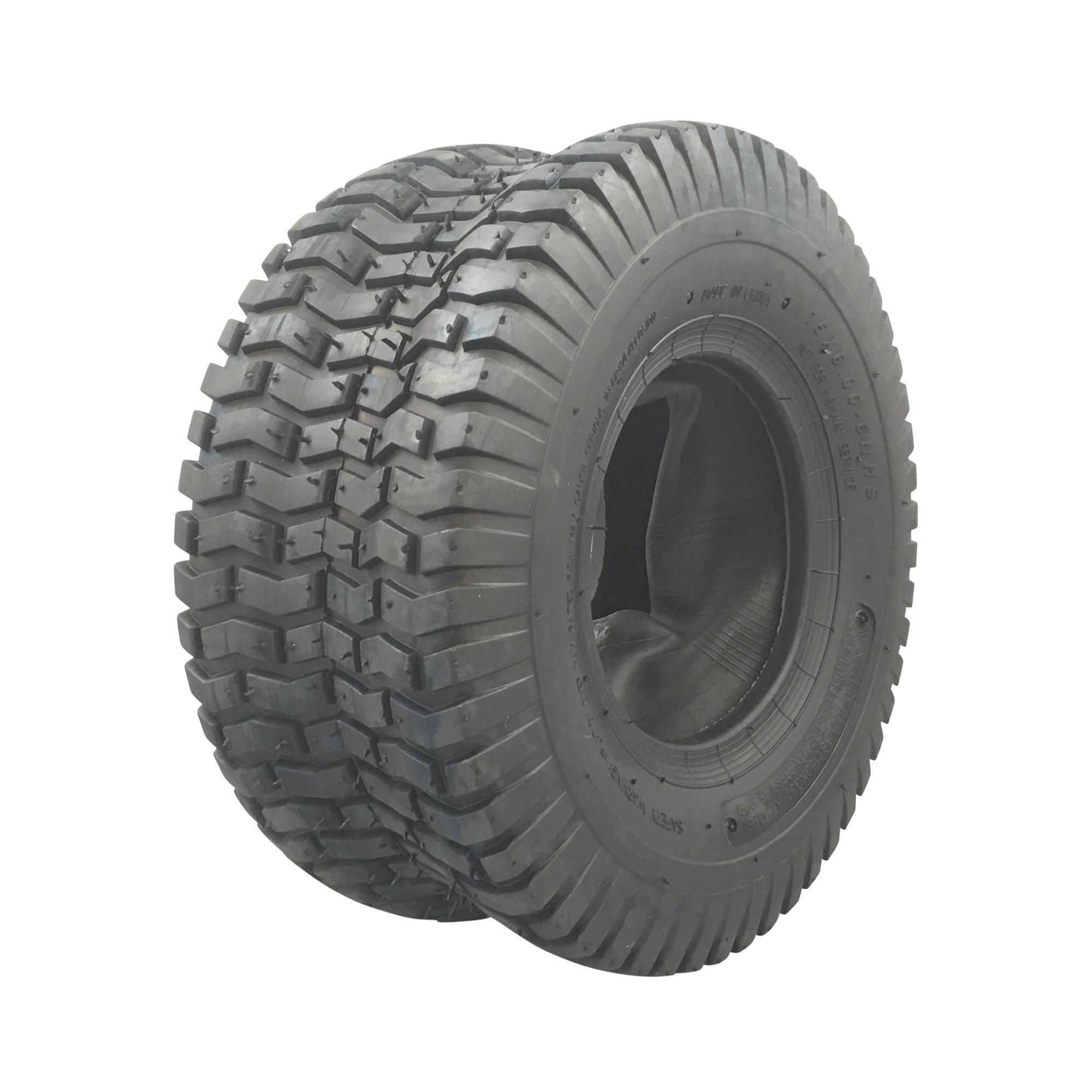 MARASTAR 21412 15x6.00-6 Tire Only with Tube Turf Saver Tread