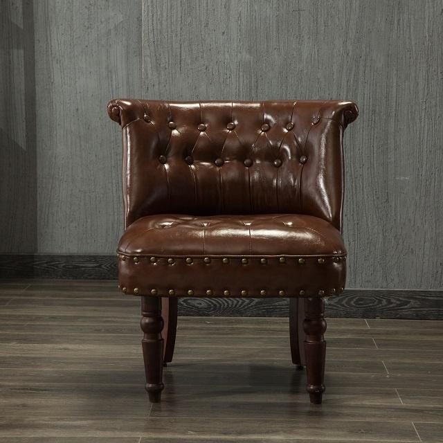 klassische genagelt leder freizeit stuhl schlafzimmer wohnzimmer holz bein bequem stuhl 8066