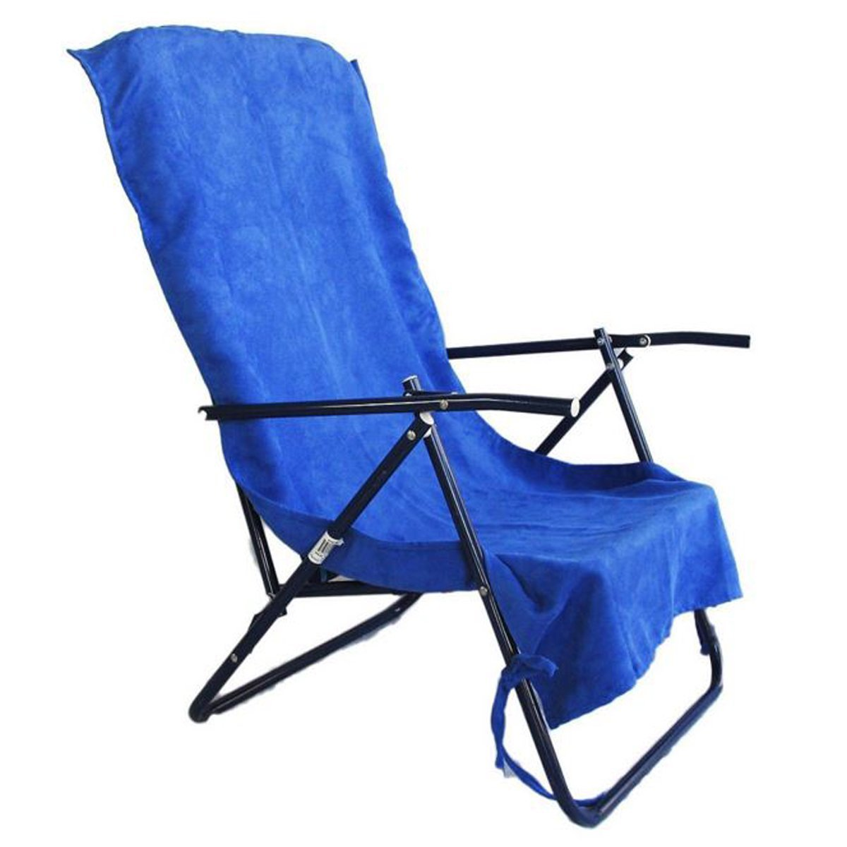 2 Pack Lounge Lizard Dark Blue Quick Dual Dry Beach Sand Chair Cover