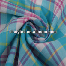 60*60 drapery soft plaid 100% cotton yarn-dyed colorful stripe printed fabric