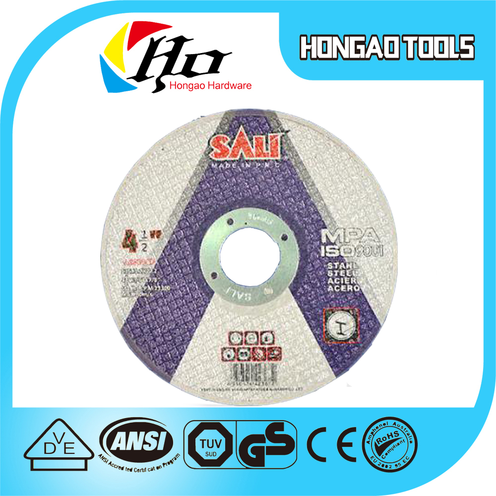 Abrasive Cutting Wheel for Metal 115X1.0X22.2, ABRASIVES grinding disc for matal,depressed,chop saw blade for stainless steel