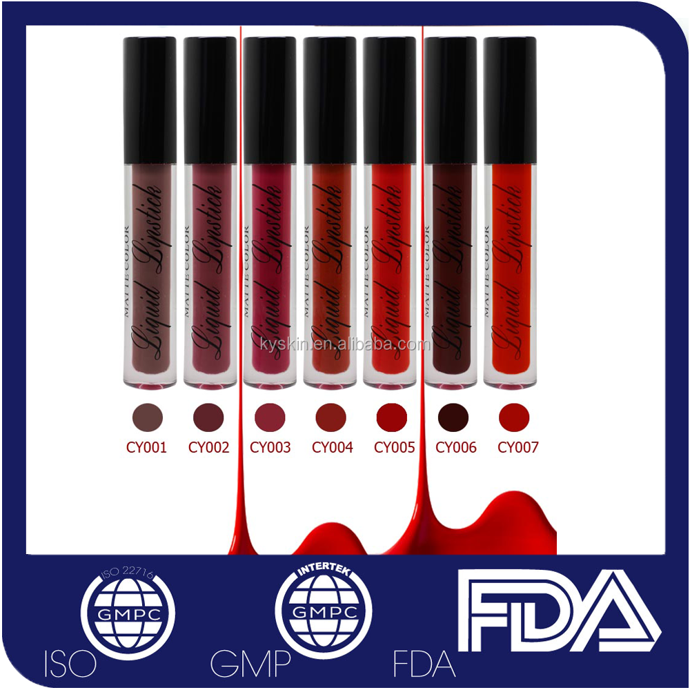 CY001-CY007 No Logo Matte Lip Gloss private label cosmetics