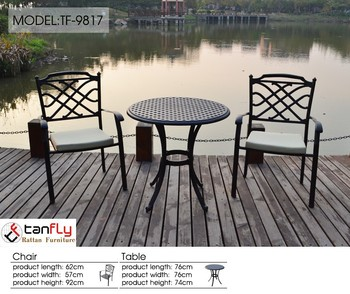 cast aluminum patio chairs. Wholesale Outdoor Garden Furniture Simple Pattern Cast Aluminum Patio Chairs