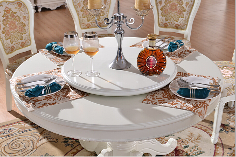 Chinese Round Dining Table With Lazy Susan Top Upscale Design Rotating Foshan Solid Wooden Product On Alibaba
