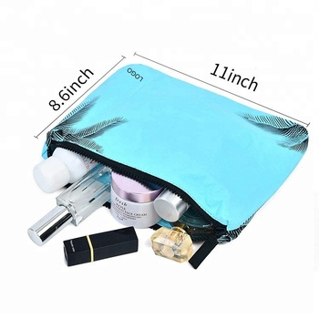 Multi-functional Portable beauty makeup case tyvek cosmetic travel bag with zipper closure