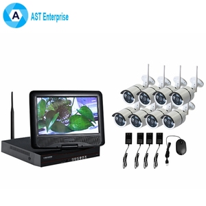 8 CH Wireless NVR Kit CCTV 7 inch LCD Monitor Wireless Home Outdoor Wifi Security Camera System