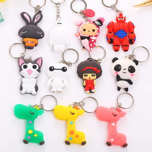 Yiwu Wholesale Custom Cartoon Soft PVC Keychain with Double Logo