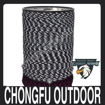 3 reflective tracer & 3 Glow in dark tracer Military Grade 550 Paracord 1000 spool parachute cord