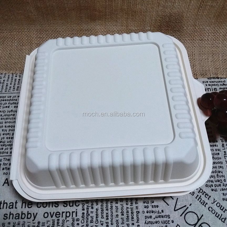 Disposable Organic Tableware Biodegradable Bento Boxes