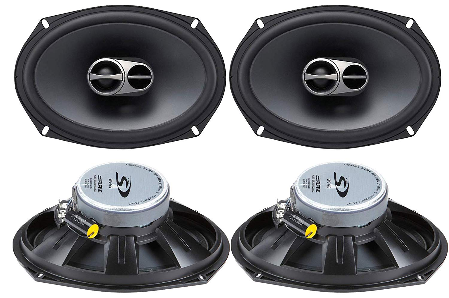 Get Quotations Alpine 6x9 Coaxial 3 Way 260W Wide Range Car Audio Speakers SPS 619 2