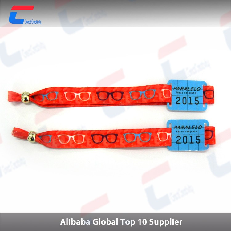 High frequency PVC rfid nfc wristband/rfid woven fabric wristband for festival