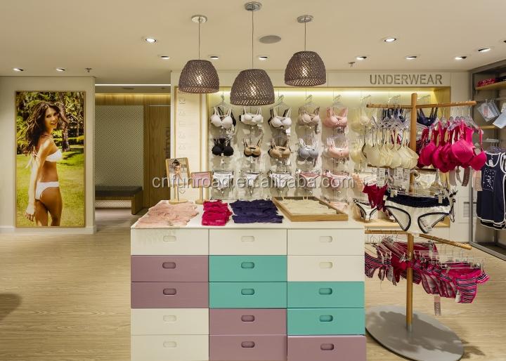 1ab2d3a44 Exposição da loja de lingerie moderna decoração de móveis para loja de roupas  íntimas
