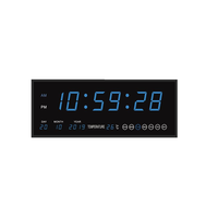 Rectangle LED clock wall digital clock