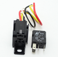 Free Shipping 100pcs/lot Car 30A 12V 4pin Auto relay and 4Pin relay holder and 4 Wire Automobile motorcycle
