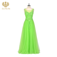 High Quality Green Long Party Garment Evening Dress