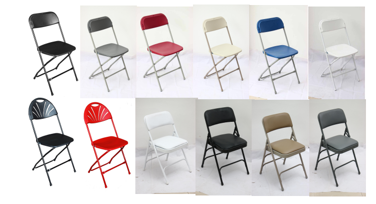 Commercial White Plastic Folding Chairs Stackable Wedding