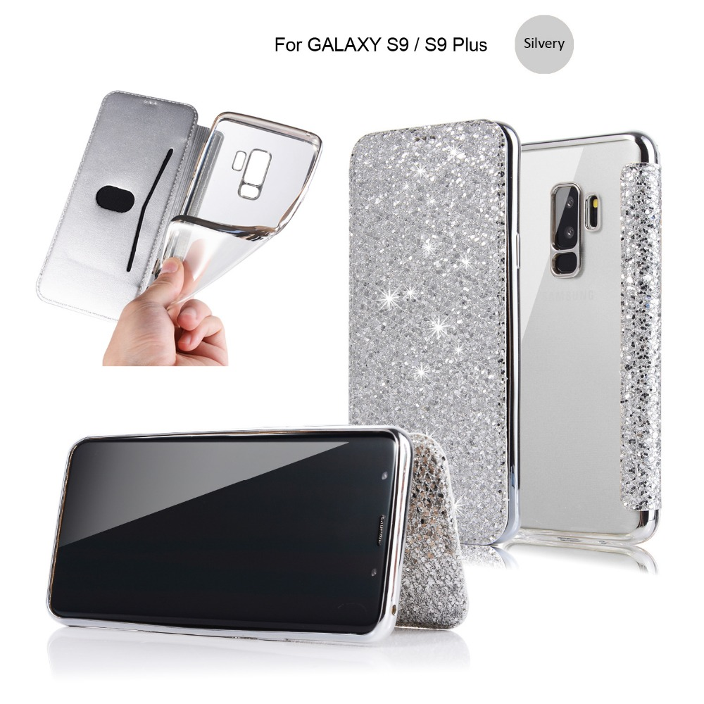 newest c4ccc 3a66b For Galaxy S9 Plus Wallet Case Flip Crystal Rhinestone Cover With Card Slot  Bling Diamond Case For Samsung S9 - Buy For Galaxy S9 Plus Wallet ...