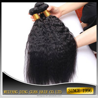 mongolian virgin kinky straight hair weaving