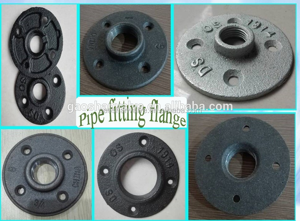 1 2 inch 3 4 inch 1 inch black cast iron flange and for 1 inch galvanized floor flange