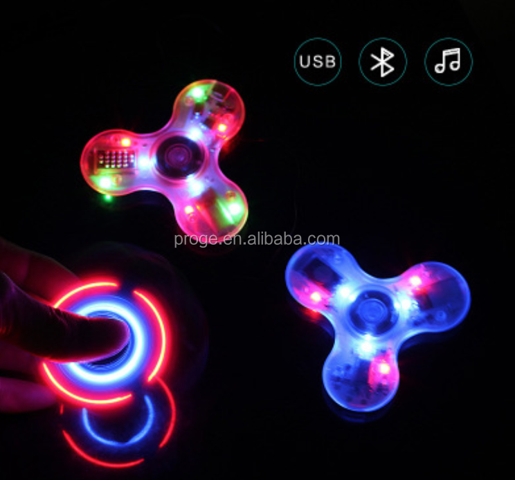 2017 top selling China factory low price fidget spinner toy clear