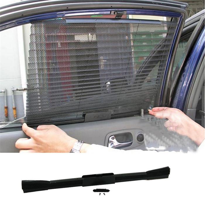 Стильный 1 шт. 60 * 46 cmAutomatic убирающийся сторона окно автомобиль гвардии занавески солнце - вс-затенение занавески Stoopable автоматическое жалюзи