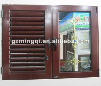 Aluminium Plantation Shutters Casement Windows Basement Window With Fixed Panel