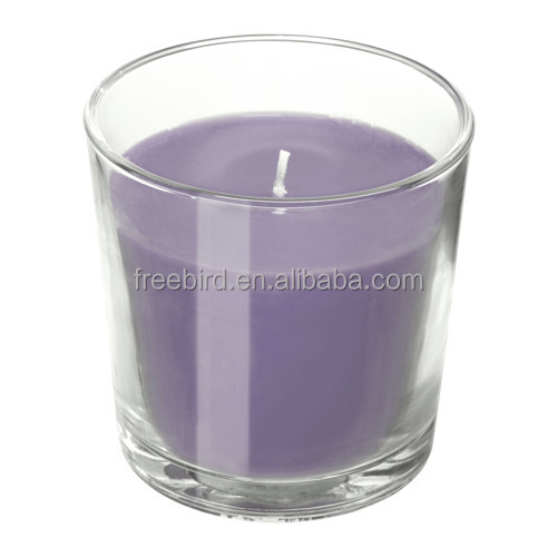 Handmade Unscented Parafiin Votive Candle in Glass