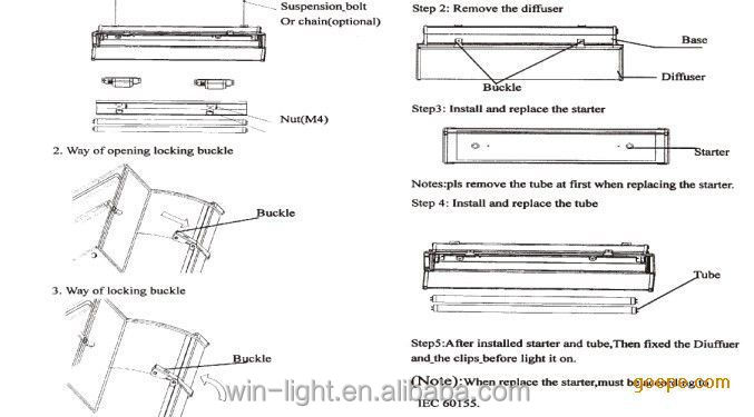 Led T5 T8 Triproof Light FixtureExplosion Proof Fluorescent – Explosion Proof Light Wiring Diagram