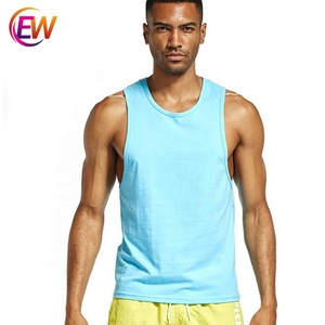 Custom Logo 90% Polyester 10% Spandex Running Vest Tank Top For Men