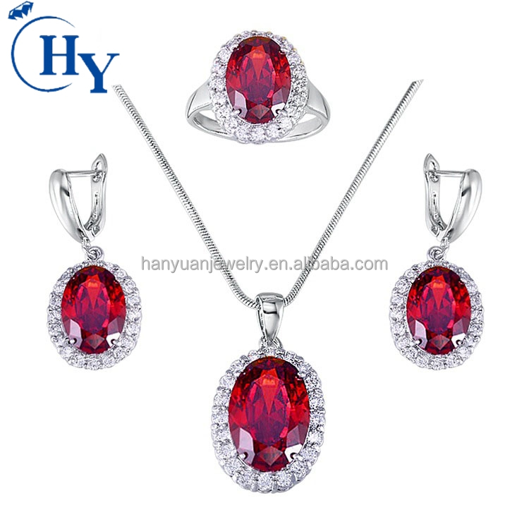 Factory wholesale fashion bridal cubic zircon jewelry sets