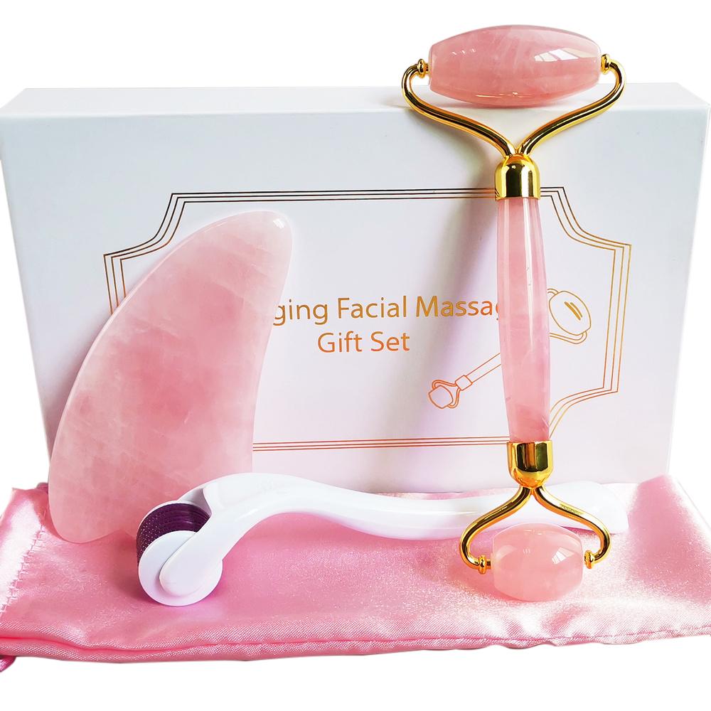 Cristal naturel De Refroidissement Sommeil Rose Quartz Facial Jade Masque Pour Les Yeux