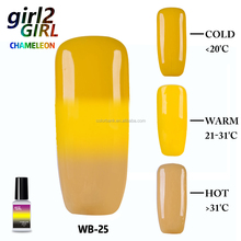 Girl2Girl 2018 nail art 7 ml 38 color soak off UV/LED Mood cambio Thermo gel de color polaco <span class=keywords><strong>CAPA</strong></span>