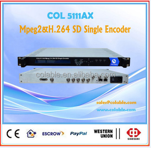 SD audio& video h.264 encoder/ support 4 mono ultra low bit rate encoder COL5111AX