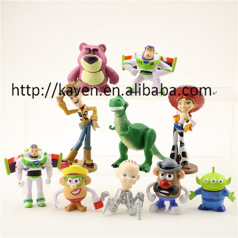 (Newest)10pcs Toy Story 3 Buzz Lightyear Woody Jessie PVC Action Figures