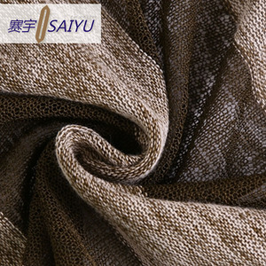 china new innovative product polyester stripe organza knit fabric