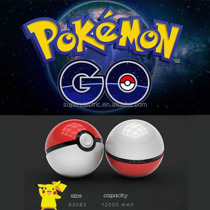 Updated Third Generation Pokemon Go Mobile Pokeball Power Bank, 12000mah Pocket Magic Ball Portable Power Source Bank