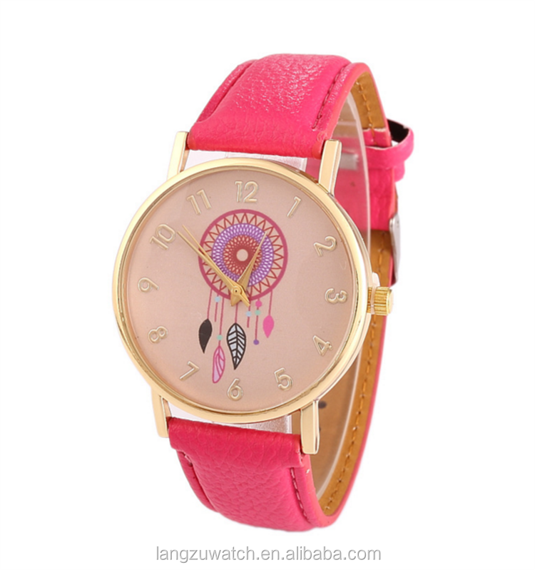 Promotion Hot Sale Fashion Leather Watches Girls Different Colors ...