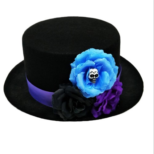 Mexico Day of the dead skull flower hat halloween party supply