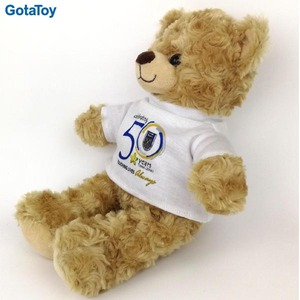 "10"" Loveable Teddy Bear Logo Branded Promotional Plush Toy Bear with Custom Shirt Printing"
