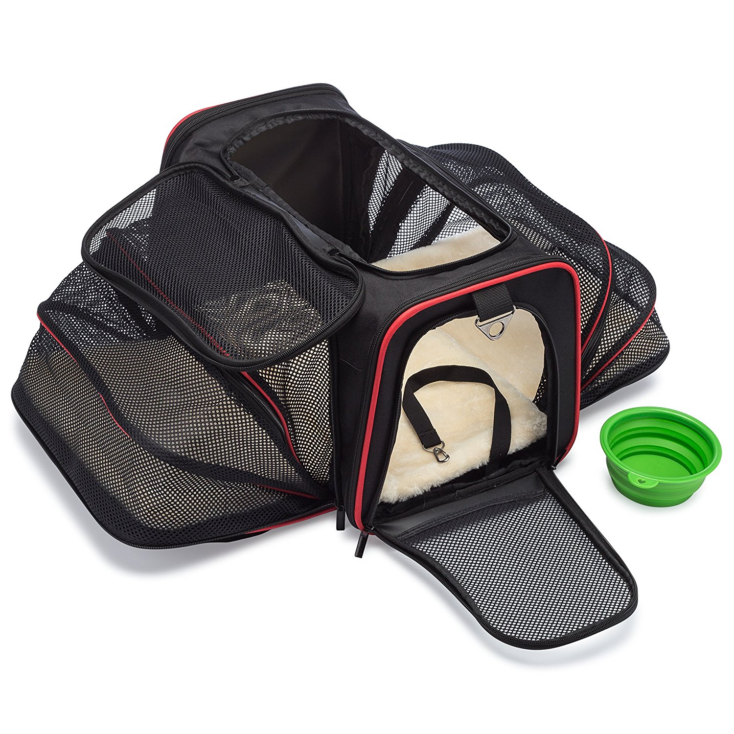 b7fe416d46c Get Quotations · mypal Expandable Soft Pet Carrier, Airline Approved Carrier  for Easy Carry On Luggage. for