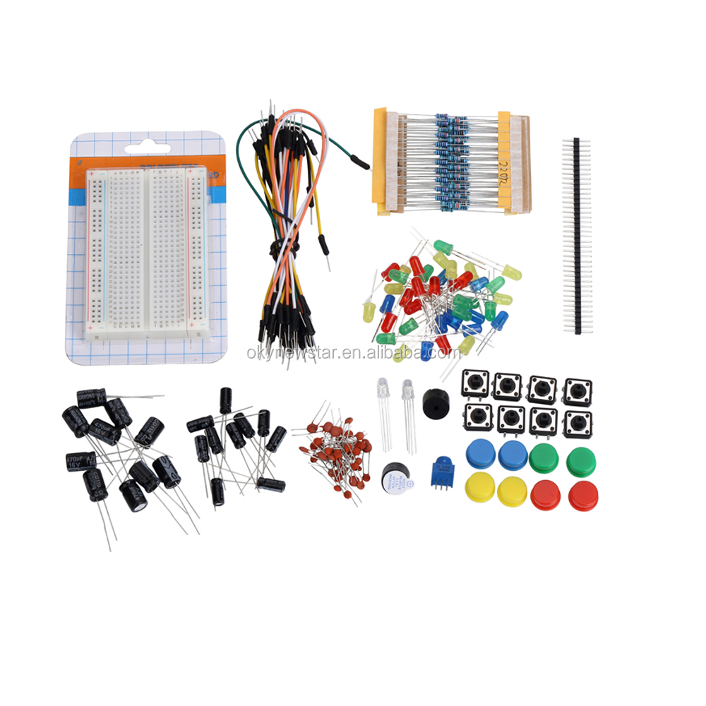 Pi Carbon Resistor Led Buzzer Jumper Wire Solderless Breadboard Prototyping Wiring Kits Kit With Years Of Export Experience Along