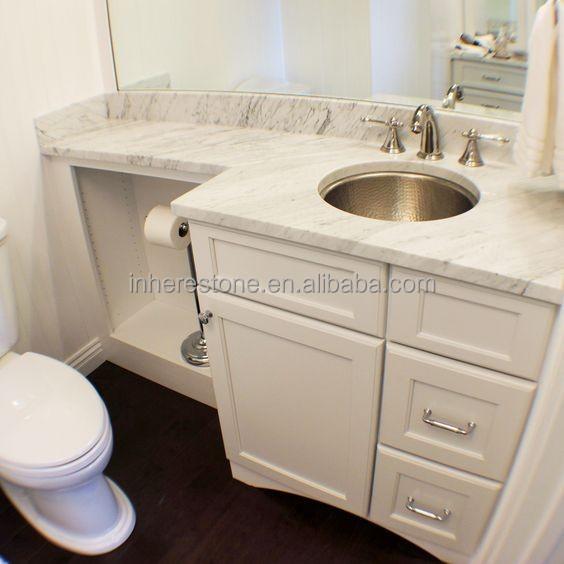 White Banjo Bathroom Vanity Top Granite